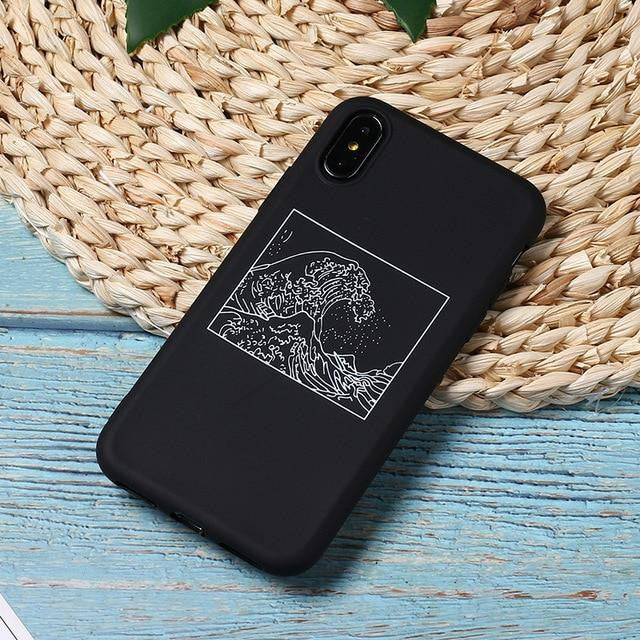 The Great Wave off Kanagawa matte iPhone cover