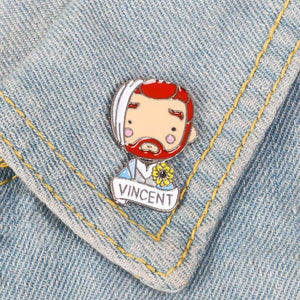 Vincent Van Gogh Enamel Pin portrait Badge