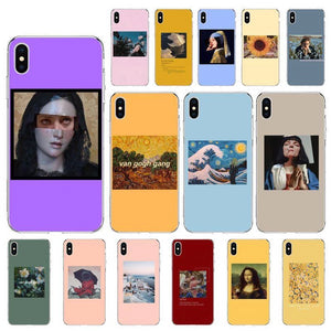 aesthetic Collage art iphone Cases
