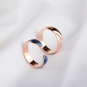 The starry night Gold & silver rings