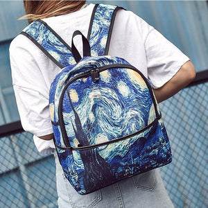 Van gogh Starry night Backpack