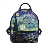 Van gogh mini backpacks