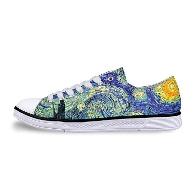 Van gogh Starry night printed on shoes