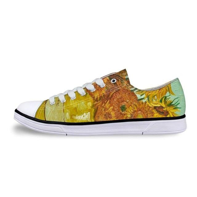 Van gogh Sunflowers printed on shoes