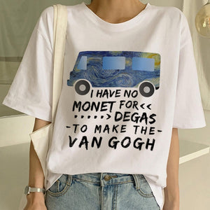 No Monet for DEGAS to make the VAN GOGH t-shirt