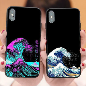 Hokusai & Van Gogh iphone cases