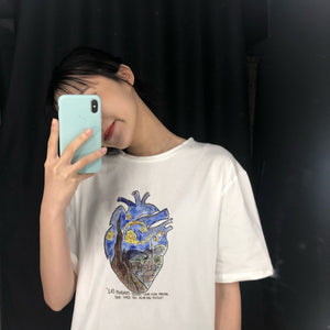 Art heart T-shirt
