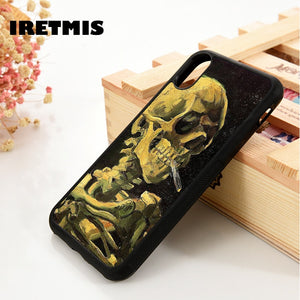 Van Gogh Skull iPhone Case