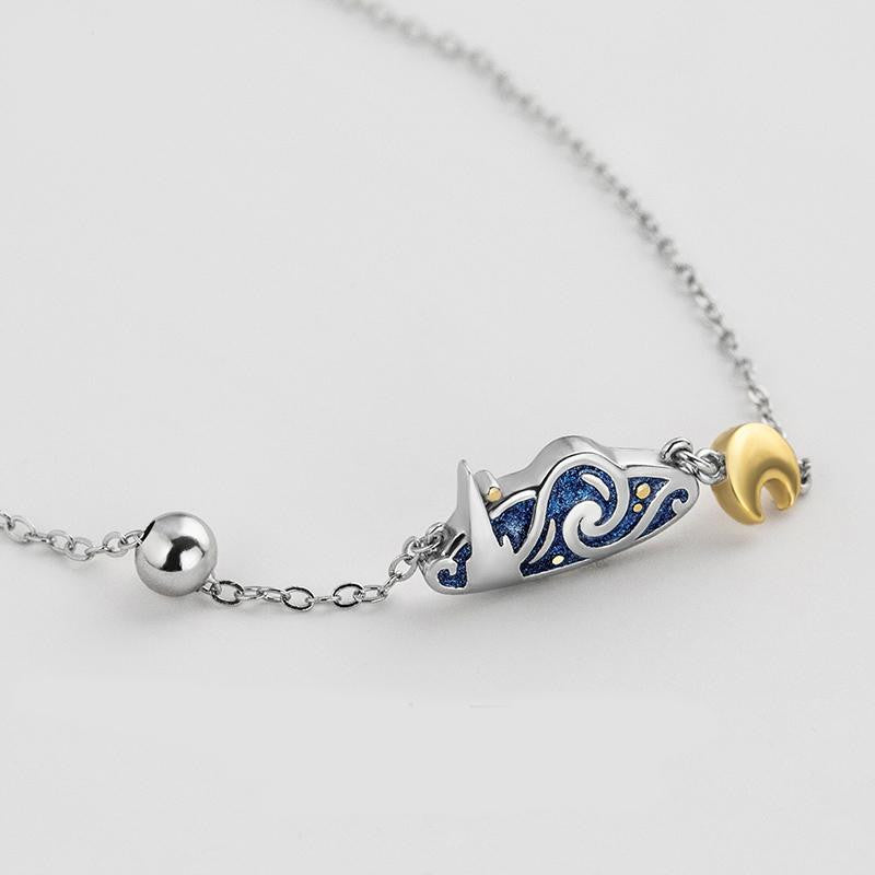 Van Gogh Starry Night inspired Necklace
