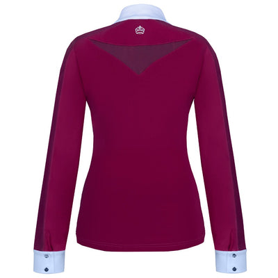 FairPlay Claire Long Sleeved Competition Shirt BURGUNDY