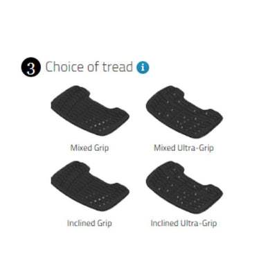 Flex-On Interchangeable Foot Rests INCLINED GRIP