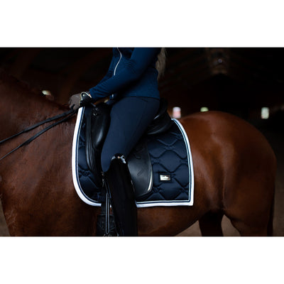 Equestrian Stockholm Dressage Saddle Pad Midnight White Edge