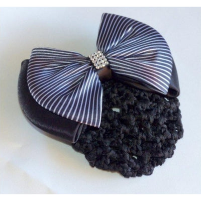 Hair Clip with Net Bianca Striped
