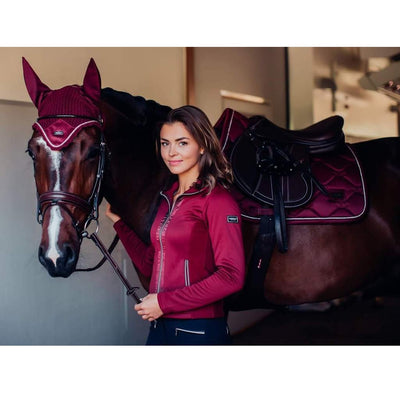 Equestrian Stockholm Fleece Jacket - Bordeaux