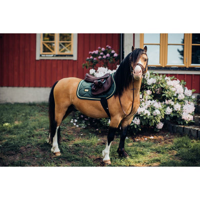 Equestrian Stockholm All Purpose Saddle Pad Forest Green PONY