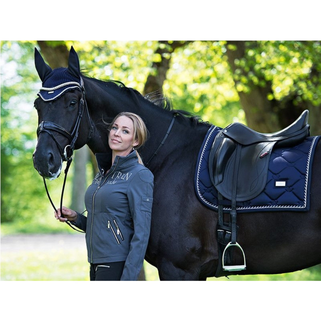 Equestrian Stockholm Dressage Saddle Pad Midnight Blue High Quality At Affordable P