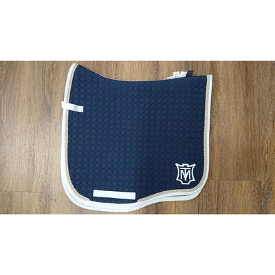 Mattes Navy/Silver/Gold Dressage Saddle Pad