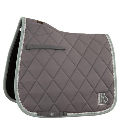 BR Orchid Dressage Saddle Pad Grey with Crystals