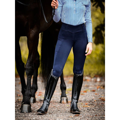 PS of Sweden Mathilde Silcicon Full Seat Riding Tights Deep Sapphire
