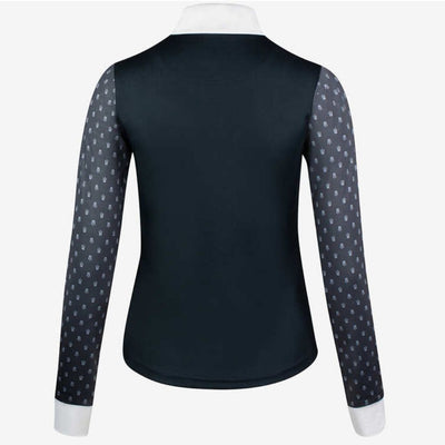 Horze Paige Ladies Long Sleeve Show Shirt NAVY