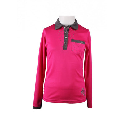 QHP Pearl Long Sleeve Kids Polo