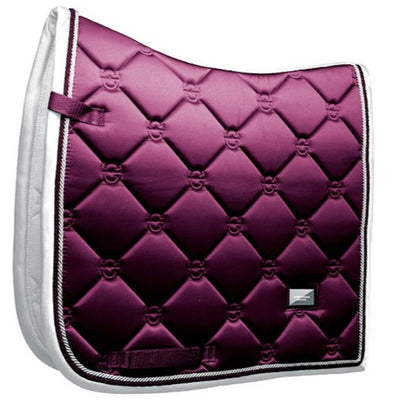 Equestrian Stockholm Dressage Saddle Pad Purple White