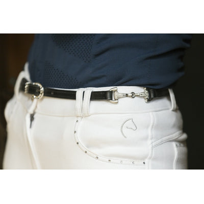 Riding World Narrow Jointed Crystal Bit Belt