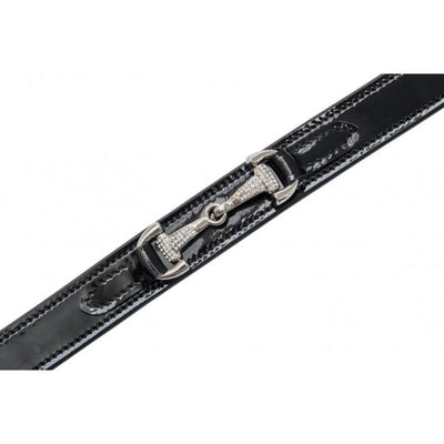 Riding World Patent Crystal Bit Belt
