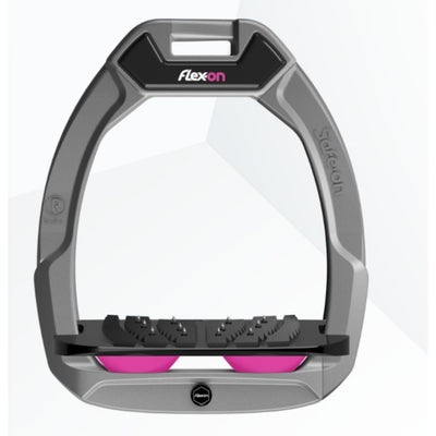 Flex On SAFE ON Stirrups Inclined Ultra Grip LIGHT GREY/BLACK/PINK