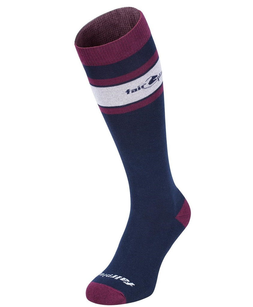 """Black-Red made in EU Fairplay Riding Stockings Riding Socks /""""Ines/"""""""