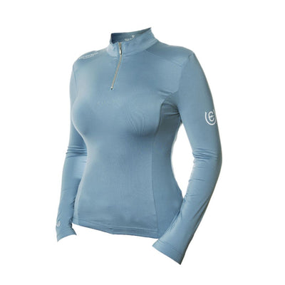 Equestrian Stockholm UV Protection Long Sleeved Top STEEL BLUE