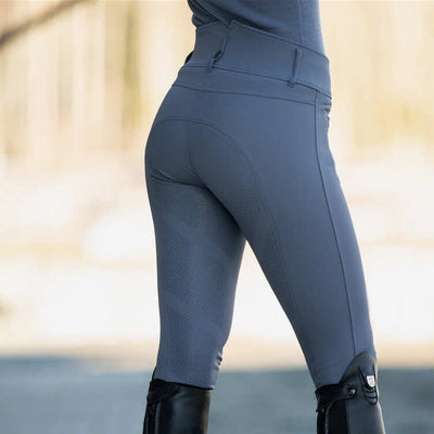 B Vertigo Tiffany High Waisted Silicone Full Seat Breeches Limited Edition Steel Blue