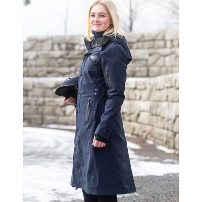 UHIP Mid Length Waterproof Trench Coat NAVY