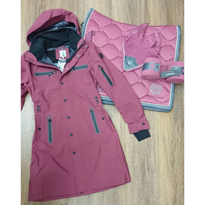 UHIP Mid Length Waterproof Trench Coat BLUSH
