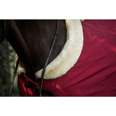 Equestrian Stockholm Fleece Fur Dress Rug BORDEAUX