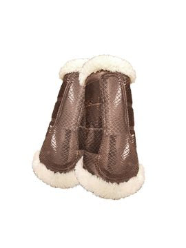 Equestrian Stockholm Brushing Boots Set of 4 CHAMPAGNE MEDIUM
