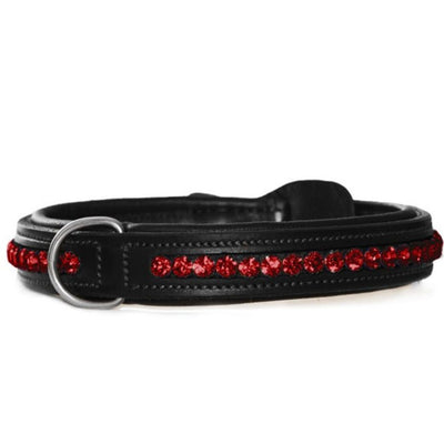 Equestrian Stockholm Dog Collar Bordeaux Crystal
