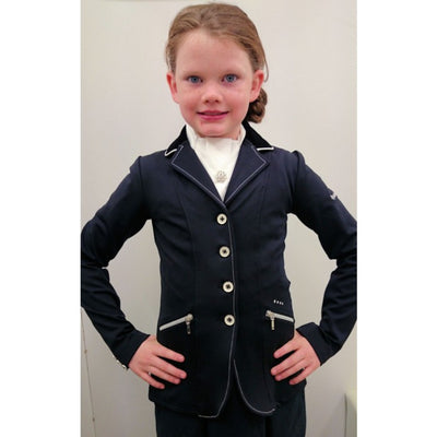 Equi-Theme Soft White Softshell Kids Competition Jacket