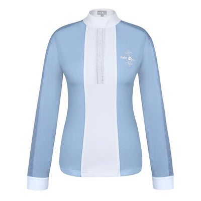 FairPlay Claire Pearl Long Sleeved Competition Shirt LIGHT BLUE