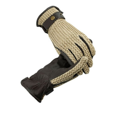Horze Crochet Leather Gloves