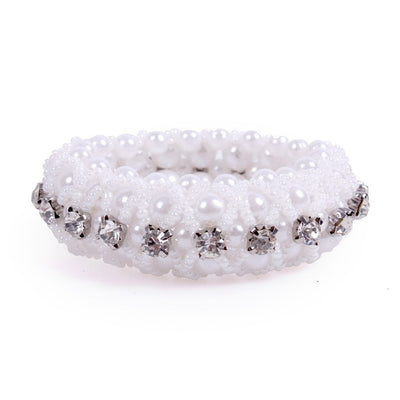 Hair Scrunchie QHP Diamond Pearl