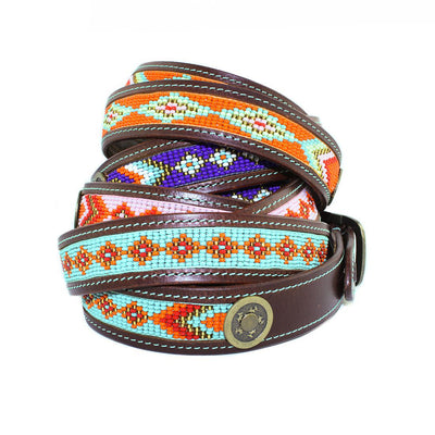 Dog with a Mission Paddy Lee Leather Belt with Beading