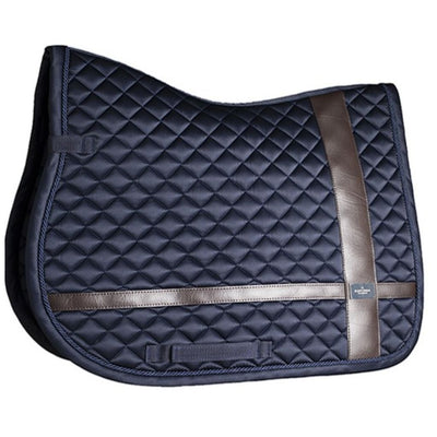 Equestrian Stockholm Leather Deluxe AP/JUMP Saddle Pad Navy