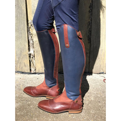 QHP Shiva Two-Tone Leather Tall Boots