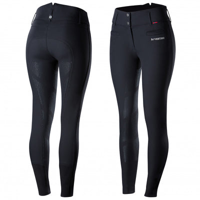 B Vertigo Tiffany High Waisted Silicone Full Seat Breeches Black