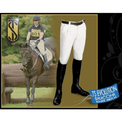 Tredstep Azzura Mens Silicon Knee Breeches with Pleats WHITE 50