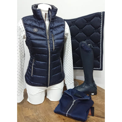 Uhip Padded Ladies Vest Navy Sheen
