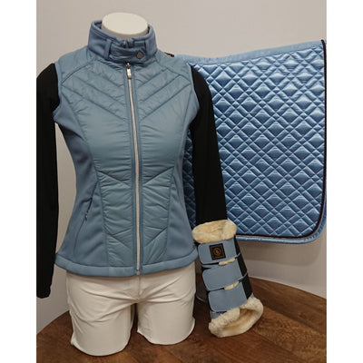 BR Oxley Ladies Padded Vest LIGHT BLUE