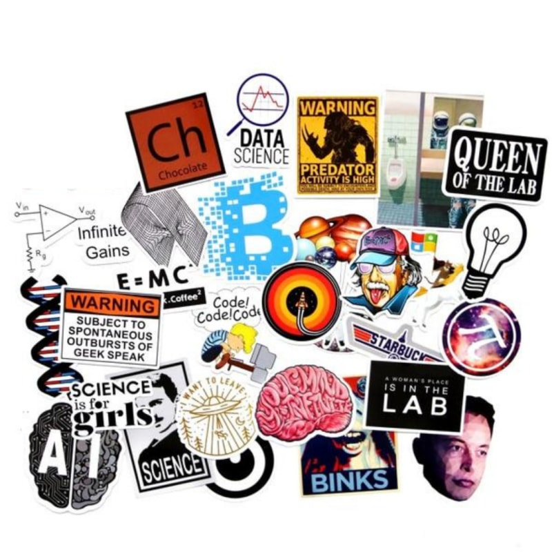 29 Pieces Science Stickers