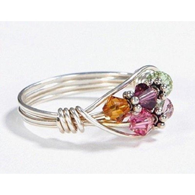 5 Stone Mother's Birthstone Ring - dilutee.com